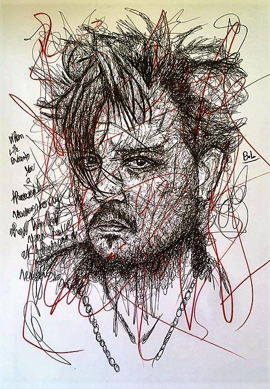 Johnny Depp por bastienlalou